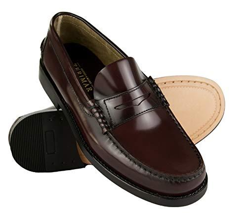 Zerimar Zapatos Castellanos Hombre Elegantes| Mocasin Antifaz Hombre | Zapatos Castellanos Mocasin Cuero | Mocasin con Borlas para Hombre | Fabricados en España