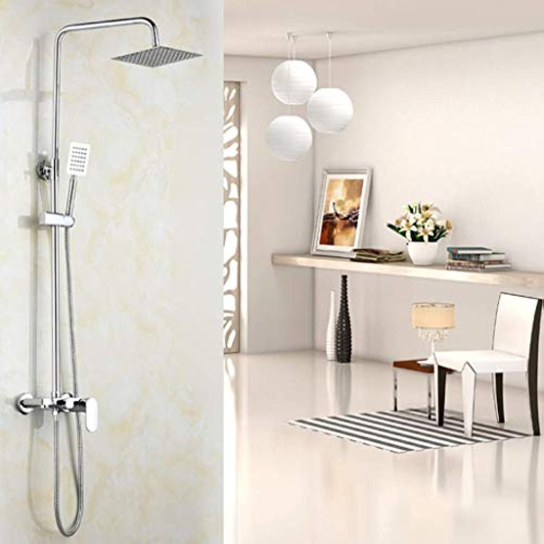 FOTEE Duschsystem, mit poliertem Chrom-Finish, Edelstahl-Hochdruck-Duschkopf, Universal-Duschsystem, für die Beste Entspannung und Spa-Behandlungen