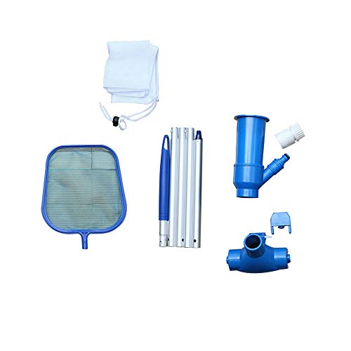 LYXY Portable Under Cleaner, Swimming Pool Vancum Cleaner Kit for Superfind Mesh Bags for Over-Ground Swimming Pools, Spas, Ponds and Fountains