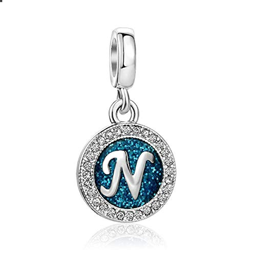 KunBead Letter N Sale Baby Childrens Girlfriend Dad Mother Daughter Niece Nana Mom Birthstone Beads Charms for Bracelets Necklaces