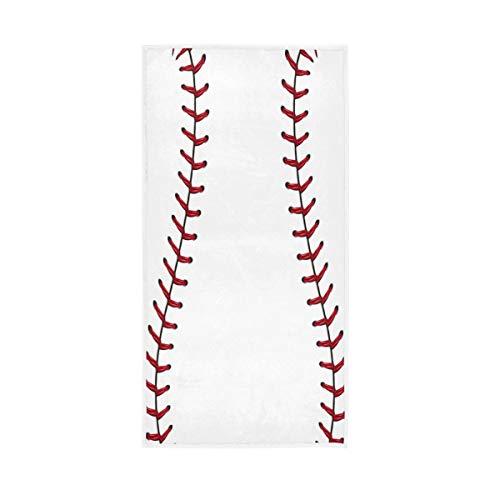 TropicalLife Lihuaval - Toalla de mano de béisbol de algodón altamente absorbente, toalla de baño suave para el pelo, gimnasio, baño, cocina, 76,2 x 38,1 cm