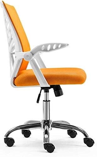 Silla de videojuegos Cahir para oficina, silla de ordenador, silla de escritorio, silla de malla, silla de estudio, silla giratoria de 150 kg – 47378U7A1E (color naranja)