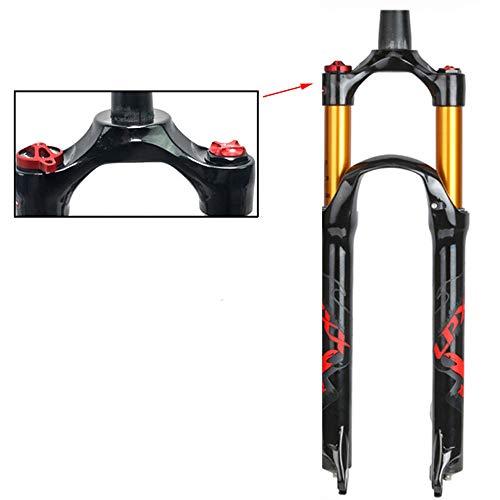 CHUDAN Horquilla Ultraligera para Bicicleta, Horquilla rígida MTB de 27.5 Pulgadas Horquilla de Bicicleta de montaña cónica de 11/8' Control de Hombro Tubo de Cono de Amortiguador neumático,A,26in