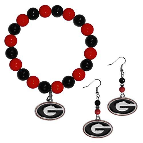 georgia bulldog charm bead - 9