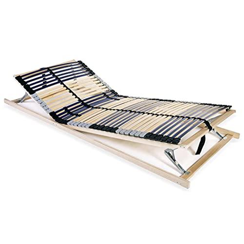 Sängar sängramar spjälad sängbotten med 42 lameller 7 zoner 80 x 200 cm