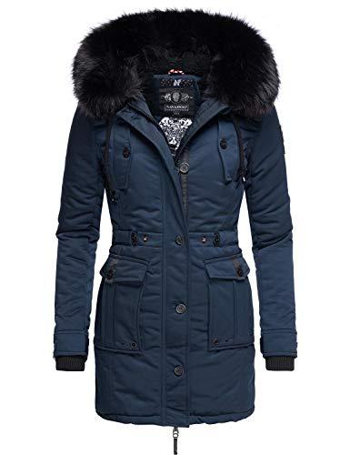 Navahoo Luluna Prc Veste d'hiver Parka pour Dame avec Capuche Bleu XXL