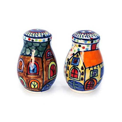 Gall&Zick Salz- und Pfefferstreuer Gewürzstreuer Salzstreuer Aufbewahrung Keramik Bunt Bemalt