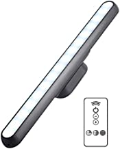 KUCAM LED Under Cabinet Lighting Kit, 5W 22LED Closet Lights Bar Magnetic with Remote, Dimmable Timer, USB Rechargeable for Reading, Wardrobe, Kitchen Cupboard, Counter etc