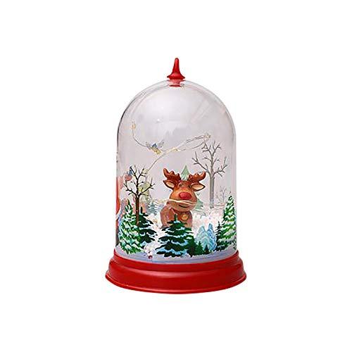 Shimigy Christmas Lighting Llampshade Santa Snowman Merry Christmas Crystal Ball Garden/Home/Yard/Party/Holiday Decoration Ornaments (B)
