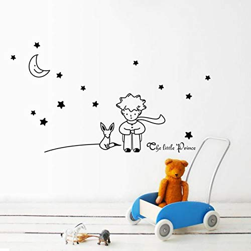 Stars Moon The Little Prince Boy Wall Sticker Home Decor Wall Decals BK Home & Garden Home Decor