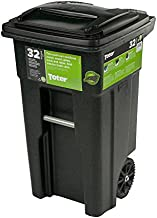 32 Gal. Green Trash Sealed Stop Bar Journals Can with Wheels and Attached Lid