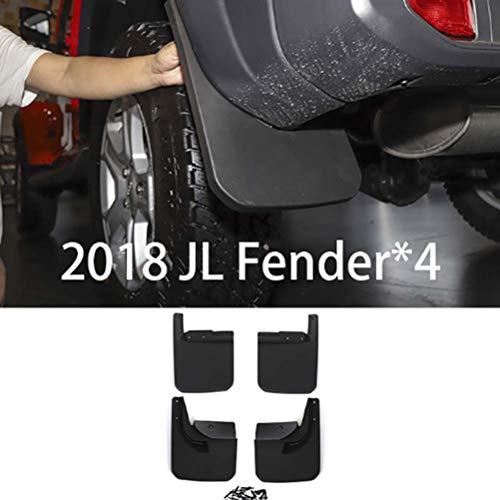 wowowa 4 Stück Auto Schmutzfänger Fender Splash Guards für Jeep Wrangler JL Sahara 2018+