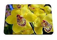 22cmx18cm マウスパッド (蘭の花明るい黄色) パターンカスタムの マウスパッド