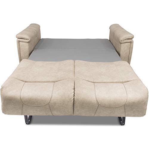 "THOMAS PAYNE 379930 68"" Tri-Fold Sofa in Grantland Doeskin"