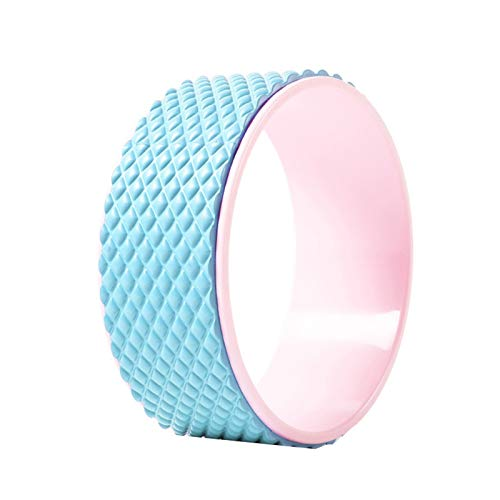 Kunyun Yoga Wheel Yoga Ayudado Abre Back Abre Artefacto Yoga Rueda Pilates Anillo Stovepipe Principiantes Backbend Roller (Color : Azul)
