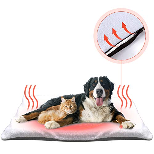 Fyore Manta autocalentable para Gatos & Perros Manta térmica Calentar Mascota Cobija Alfombra de Cama para Mascotas Auto calefacción para Mascotas, Perros y Gatitos para Viajes o casa,90x60 cm