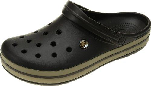 Crocs Unisex-Erwachsene Crocband Clogs, Espresso/Khaki, 37/38 EU