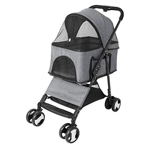 Bingopaw Pet Stroller, Foldable Dog Stroller 4 Wheel Pet Stroller for Puppy...