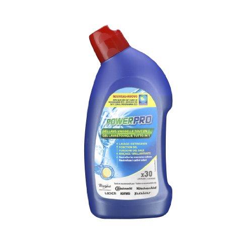 Wpro GEL750 Gel 3en1 pour lave vaisselle (fonctions lavage, sel et rinçage) - jusqu'à 38 lavages