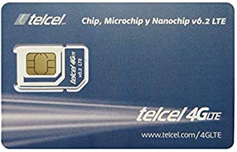 Telcel Mexico Prepaid SIM Card with 3GB Data and Unlimited Calls and SMS