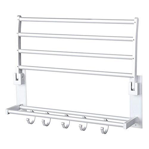 Redxiao Toallero, rodamiento de aluminio, soporte de gravedad, para cuarto de baño