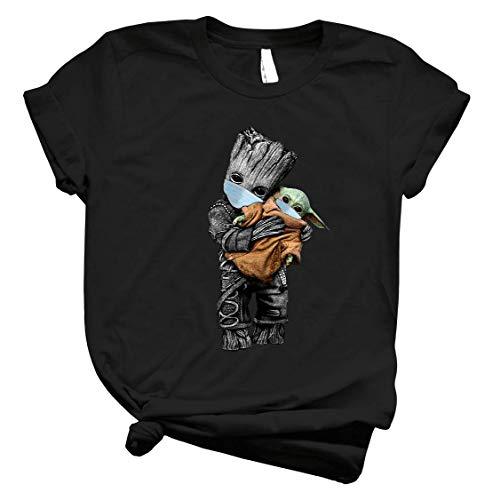 Baby Yôdás And Baby Groot Córónávírús Staar Waars Funny Shirt – Ncovid 19 Yôdás Baby Groot Cute Shirt For Men – Tee For Women Córónávírús Against Handmade Shirt Customize T Shirt