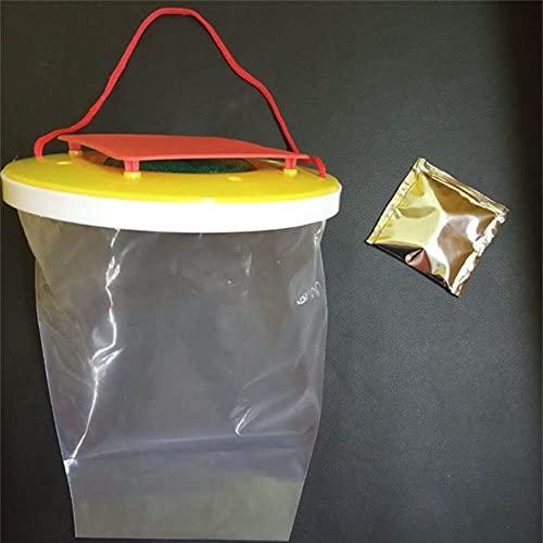 2 x atrapasueños de moscas, no tóxicas, trampas para bolsas de insectos voladores, color rojo superior mata hasta 20.000 moscas, ideal para grandes áreas al aire libre