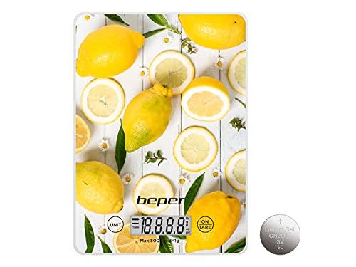 BEPER BP.800-Balanza Electronica de Cocina, Digital, Placa,
