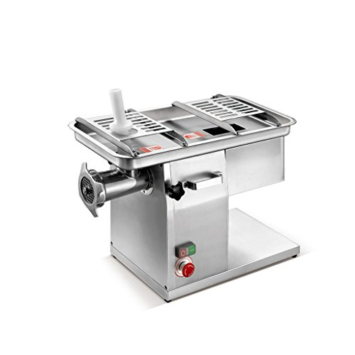 KWS JQ-58 Duo Function Commercial 1950W 2.6HP Electric Fresh Meat Cutter + Stainless Steel Meat Grinder All in One Grinding and Slicing Machine for Restaurant/Deli/Butcher Shop