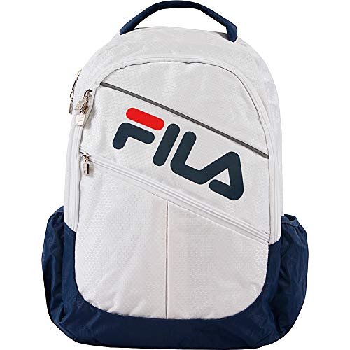 Fila August Laptop/Tablet Backpack, White, One Size