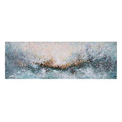 Esta realizado con soporte de lienzo. Sus medidas son: 150x3x50 cm. Encaja en ambientes de estilo: contemporáneo, moderno. Un producto recomendado para uso en dormitorio, salón, habitación. Cuadro cabecero abstracto pintado a mano sobre tela de lienz...