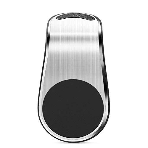 NOVHOME Soporte para teléfono de Coche, Soporte magnético de Metal para teléfono para BMW e90 e60 e46 f10 f20 Peugeot 206307407 para Audi a4 a3 Renault-Silver