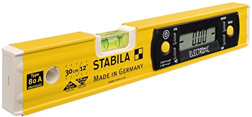 STABILA Elektronik-Wasserwaage TECH 80 A electronic, 30 cm, mit Digital-Display