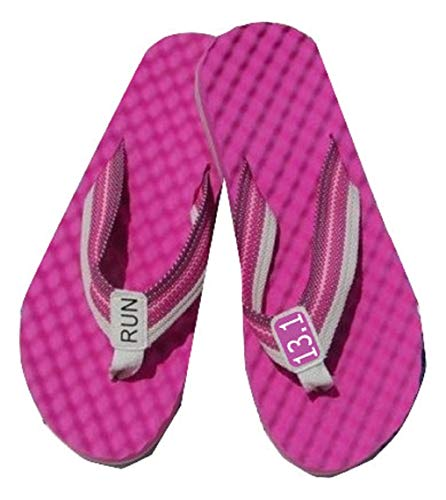 RunningontheWall Recovery Sandals - Choice of 3 Colors - Running Thong Flip Flop - Revitalise Your Foot - Post Run Refresh - Half Marathon Logo - 13.3