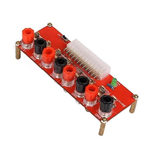 Gracy Módulo Adaptador de la Tarjeta de Suministro de energía ATX de sobremesa del desbloqueo de Escritorio del Ordenador Conector 3.3V 5V 12V 5A 24 Pins y Componentes