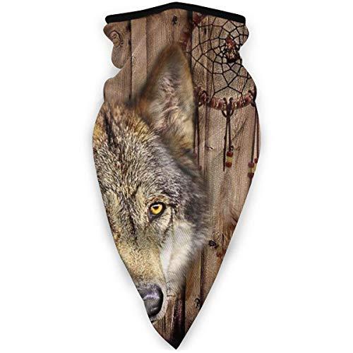 Western Country Native Dream Catcher Wolf Kopf Halswärmer Ski Hals Gamasche Abdeckung Gesicht Halb Gesicht Abdeckung Magisches Stirnband Winter für Männer Frauen Jungen Mädchen