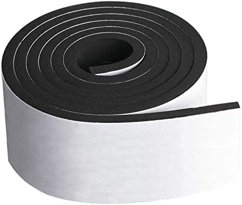 Neoprene Foam Strip Roll by Dualplex 4 Wide x10 Long 1 4 Thick Weather Seal High Density Stripping product image