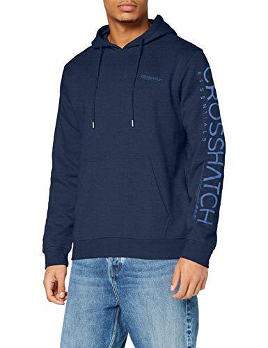 Crosshatch Mishford Felpa Uomo, Insignia Blue, XL