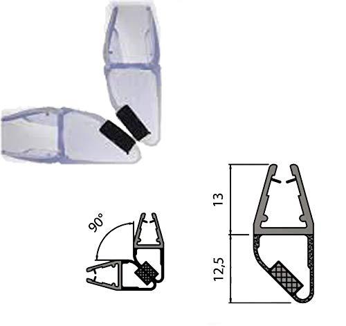 Guarnizione Magnetica 90° per Box Doccia 190 cm vetro 6 mm