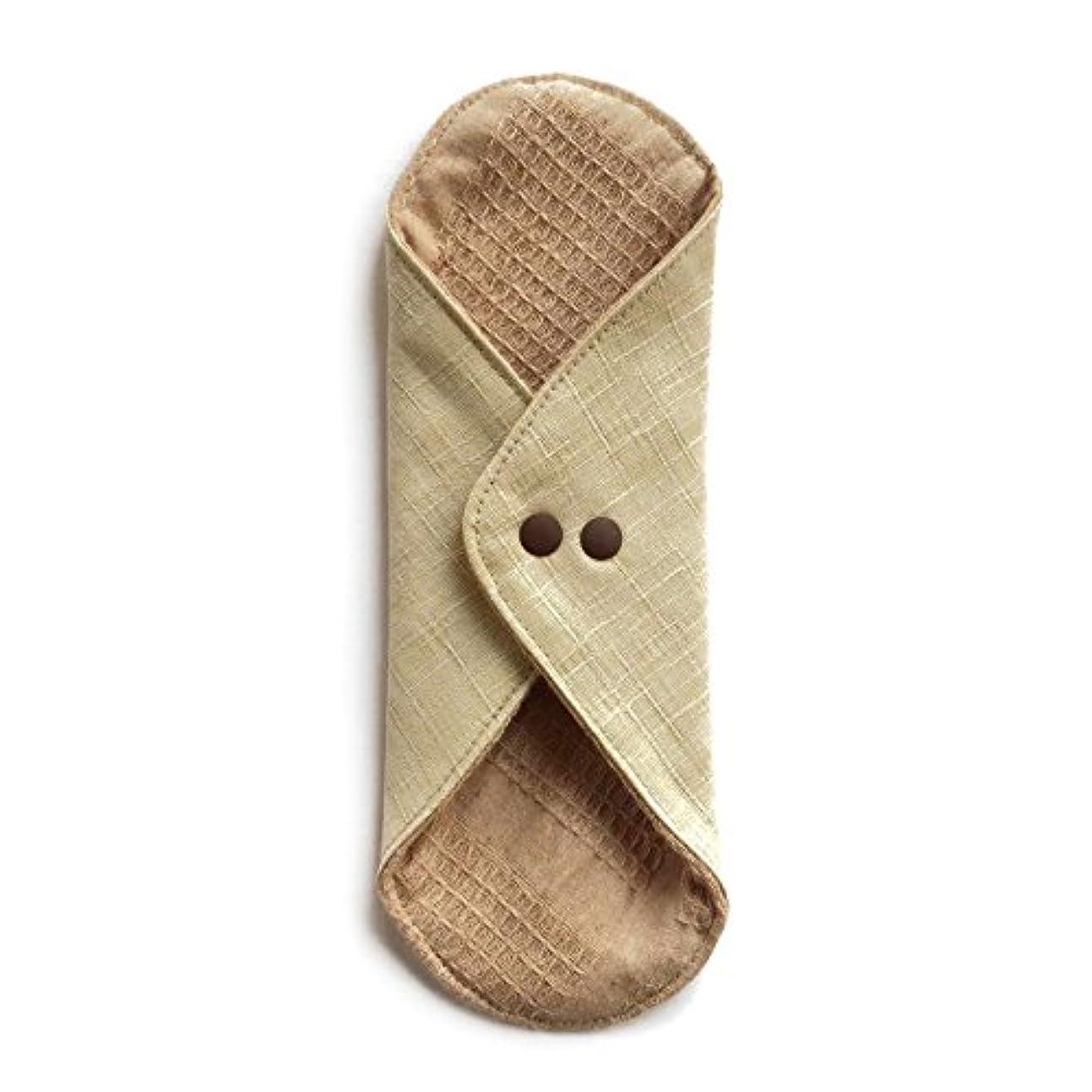 彼消費優先権華布のオーガニックコットンのあたため布 Lサイズ (約18×約20.5×約0.5cm) 彩り(百合)