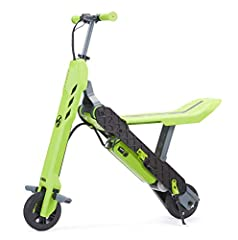 Easily transforms from electric scooter to mini bike Height adjustable handlebar with Thumb control throttle Lever activated disc Brake for optimum braking performance 100 Watt DC motor with chain drive that speeds up to 10 mph Suitable for ages 8+, ...