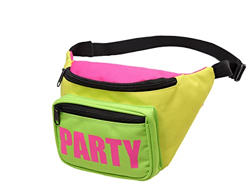 Neon 80s Party Waist Pack