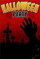 Qinunipoto 背景布 ハロウィン happy halloween 血の背景 烏 恐ろしい背景 ハロウィン様式 写真の背景 背景幕 写真背景 人物撮影 自宅 写真館 万聖節カボチャ cosplay背景 写真撮影用 ビニール 1x1.5m