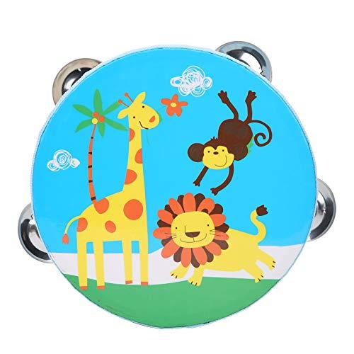 Rodipu Juguetes de Tambor para niños, robustos y prácticos Juguetes de Tambor de Mano para bebés, hogar de Mano para aulas(Blue Giraffe)