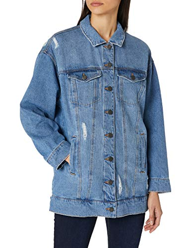 Noisy may Female Jeansjacke Lang XLLight Blue Denim