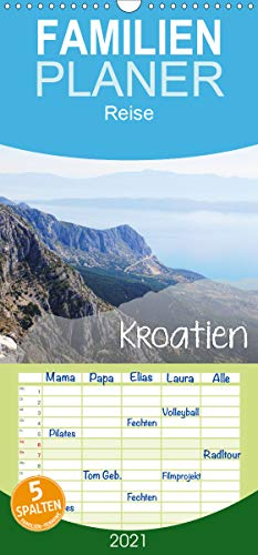 Kroatien - Familienplaner hoch (Wandkalender 2021, 21 cm x 45 cm, hoch)