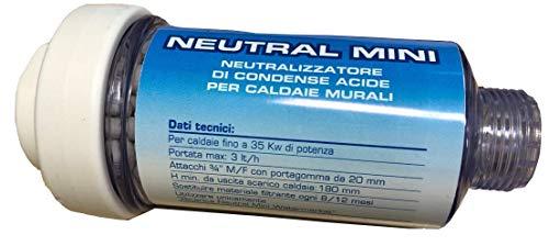 WK Filtro Neutralizzatore di Condensa Scarico Caldaie | 3/4' MF | Made in Italy, Bianco