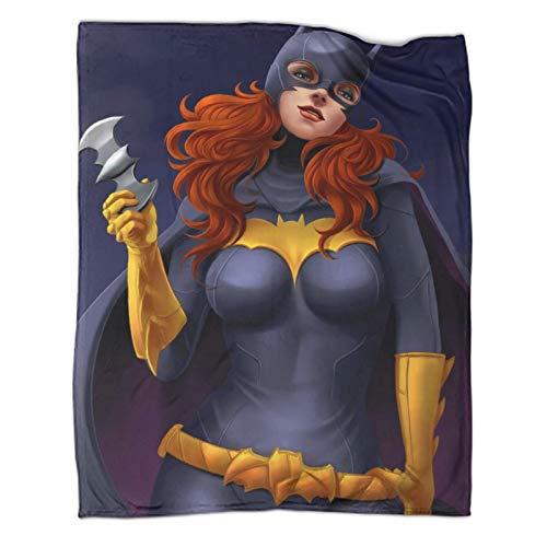 Xaviera Doherty Batwoman Superhéroe Batman Comics Manta de forro polar súper suave de 180 x 230 cm, manta portátil para oficina, aire acondicionado, almuerzo, descanso, manta, manta chal