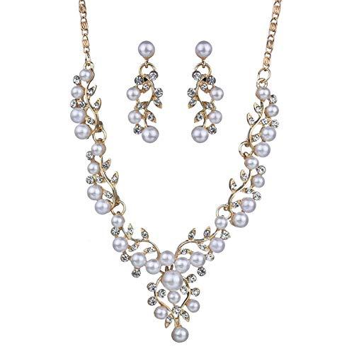 zhppac Collar Hombre Collar de Diamantes Collar de la Suerte Elegante Collar Collar de la Boda de Collar Inusual La eternidad Collar Collar único Gold