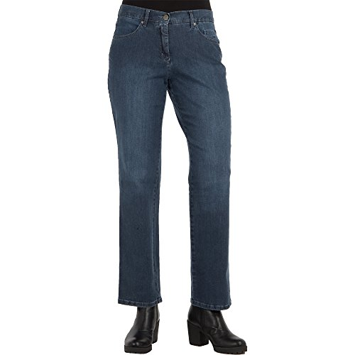 Toni Damen Jeans Honey Straight Fit Relaxed Italian Denim Blue Stone Used Stretch, Größe:46, Farbe:542 Blue Stone Used